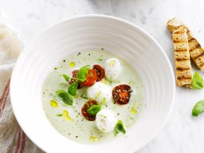 Soupe estivale fraîche aux boulettes - Galbani
