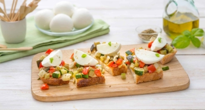 Bruschetta rustiques à la Mozzarella Di Bufala et aux légumes - Galbani