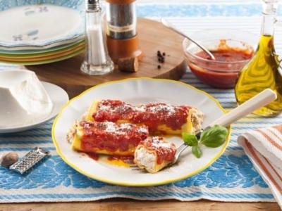Cannelloni met Ricotta en saucijs - Galbani