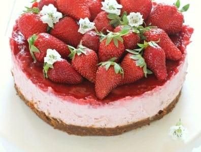 Cheesecake met Ricotta en aardbei - Galbani