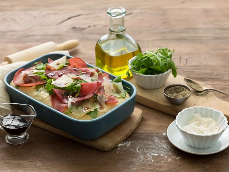 Pizza met Parmigiano Reggiano en rucola - Galbani