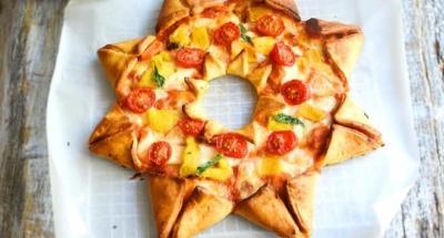 Sterpizza met tomaten, Mozzarella en paprika's - Galbani