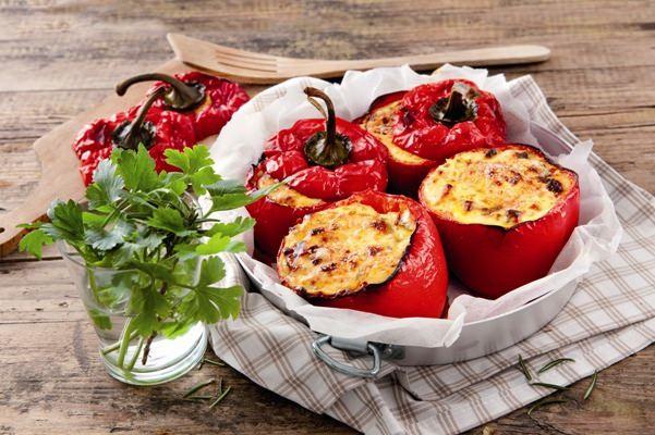 Gevulde gegrilde paprika's - Galbani