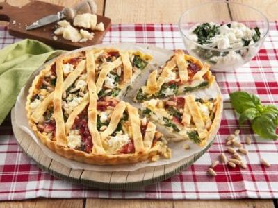 Quiche met Ricotta, spinazie en ham - Galbani