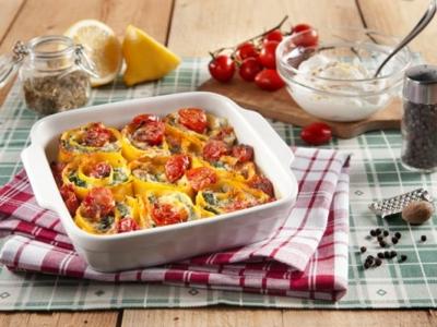 Rolletjes met Ricotta, spinazie en cherrytomaten - Galbani